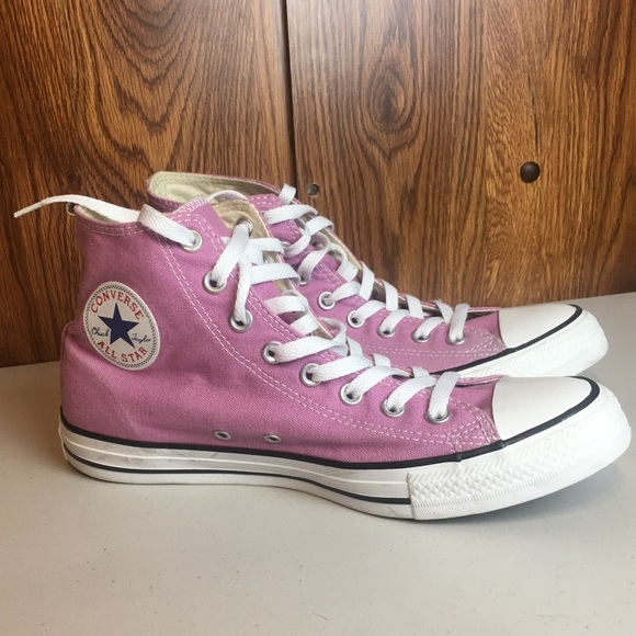 Converse all star high tops - pink size 9